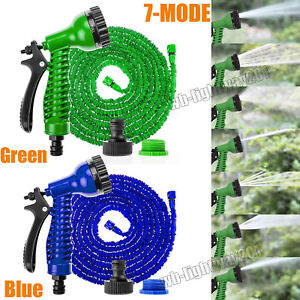 Image is loading 75-200FT-Magic-Water-Pipe-Household-Telescopic-Hose-  sc 1 st  eBay & 75-200FT Magic Water Pipe Household Telescopic Hose Car Wash Gun ...