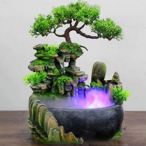 Crafts Humid Decoration Simulation Waterscape Desktop Spray Feng Shui Indoor