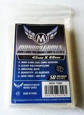 50 Card Sleeves Mayday MINI EURO PREMIUM 45x68 Bustine Protettive Giochi Tavolo