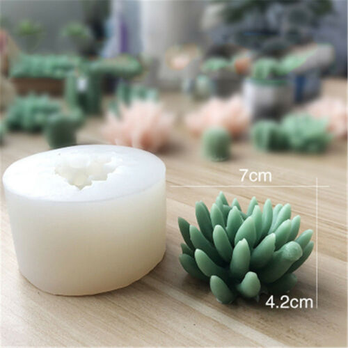 Succulent Cacti Candle Mold Silicone Soap Mold DIY Craft Wax Resin Plaster Mould