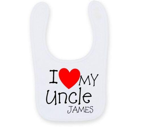 Personalizzata amo mio zio Bavaglino, Carino Divertente Zia Bavaglino B004