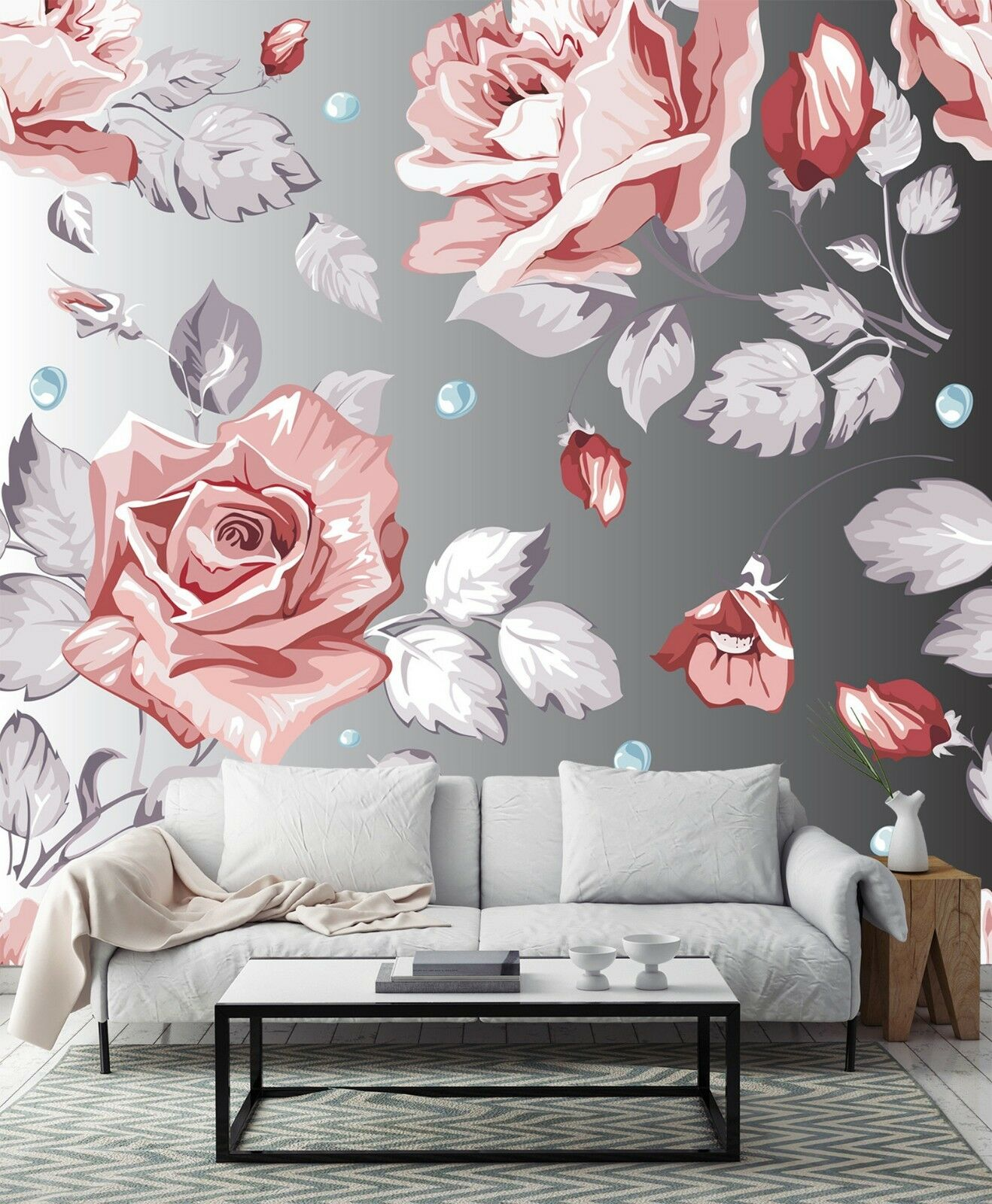3D Cartoon pinks Wall Paper Print Decal Wall Deco Indoor wall Mural