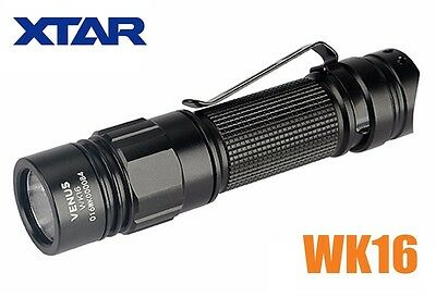 New XTAR VENUS WK16 Cree XP-G3 550 Lumens LED Flashlight Torch AA, 2A, 14500