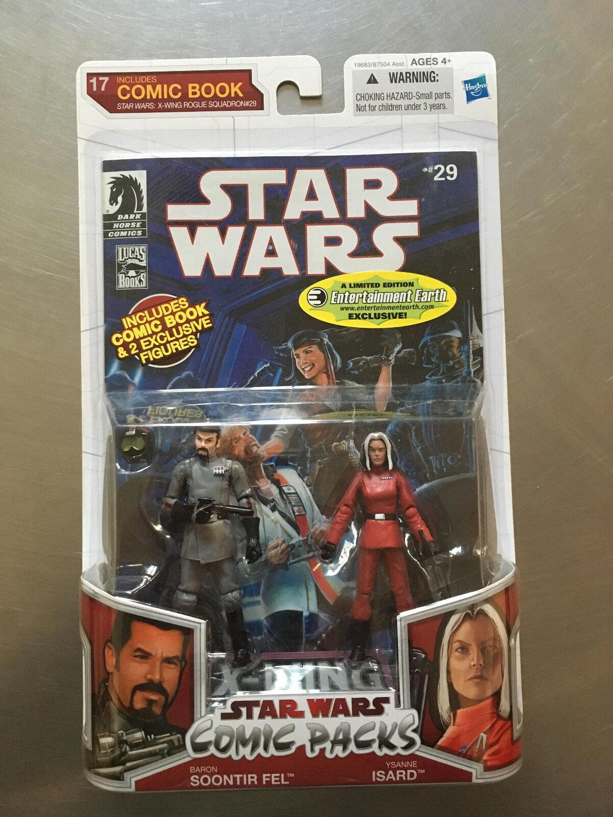 ganancia cero Estrella Wars Comic Packs Soontir Fel & Ysanne Isard Figura Figura Figura Hasbro Dark Horse Ltd Ed  envío rápido en todo el mundo