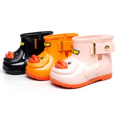 Children Kid Baby Girls Cute Bowknot Dot Rubber Waterproof Kids Boots Rain Shoes