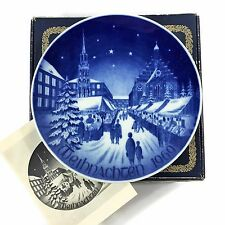 1969 Christmas Weihnachten Bareuther Bavaria Germany Plate Blue and White