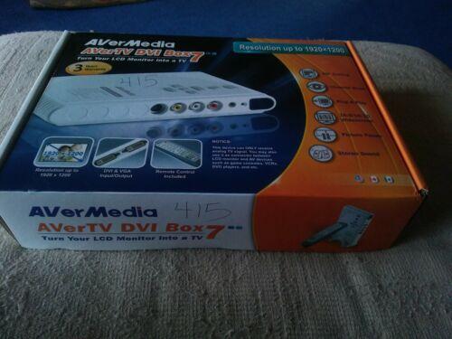 New In Box! AVerMedia AVerTV DVI Box7