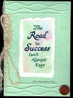 EMBOSSED Greeting Card  NEW BLUE MOUNTAIN Road to Success Isn/'t Always Easy