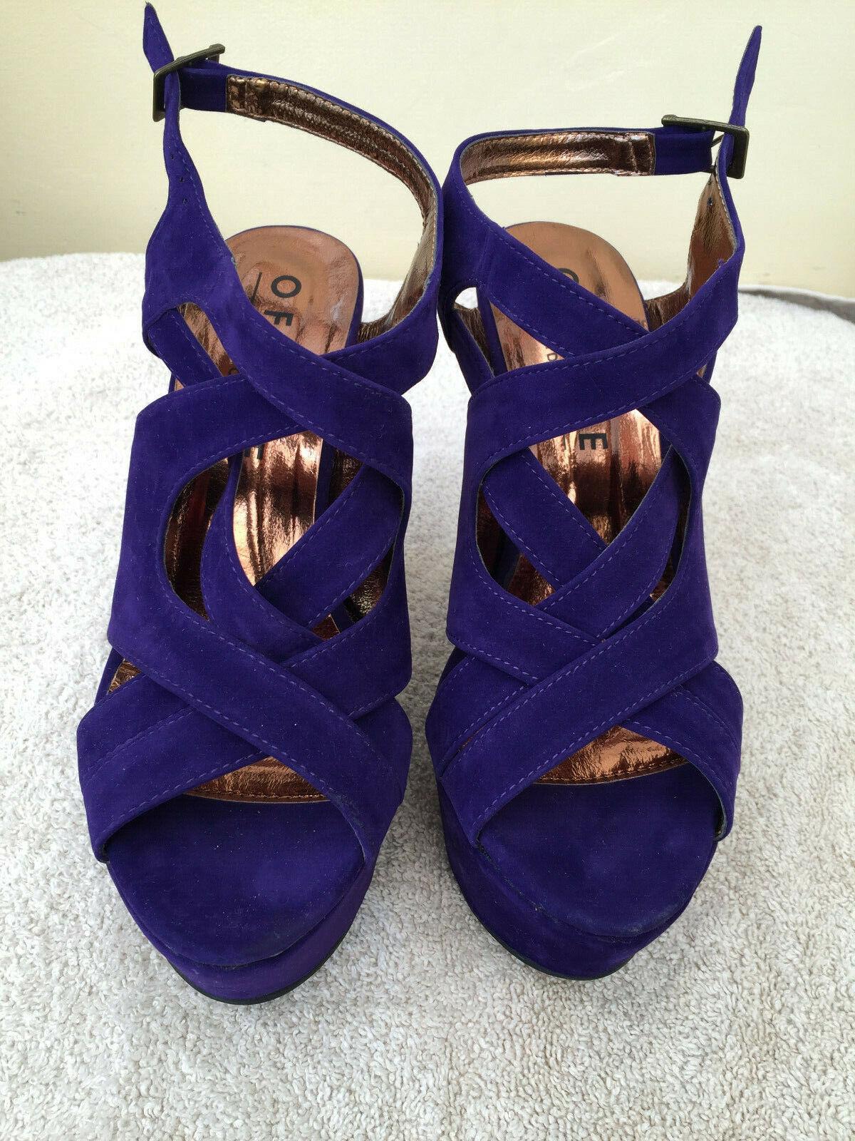58b90d11ea546 New Unworn Office Purple Suede Sandals Size 3 36 Platform Beautiful ...