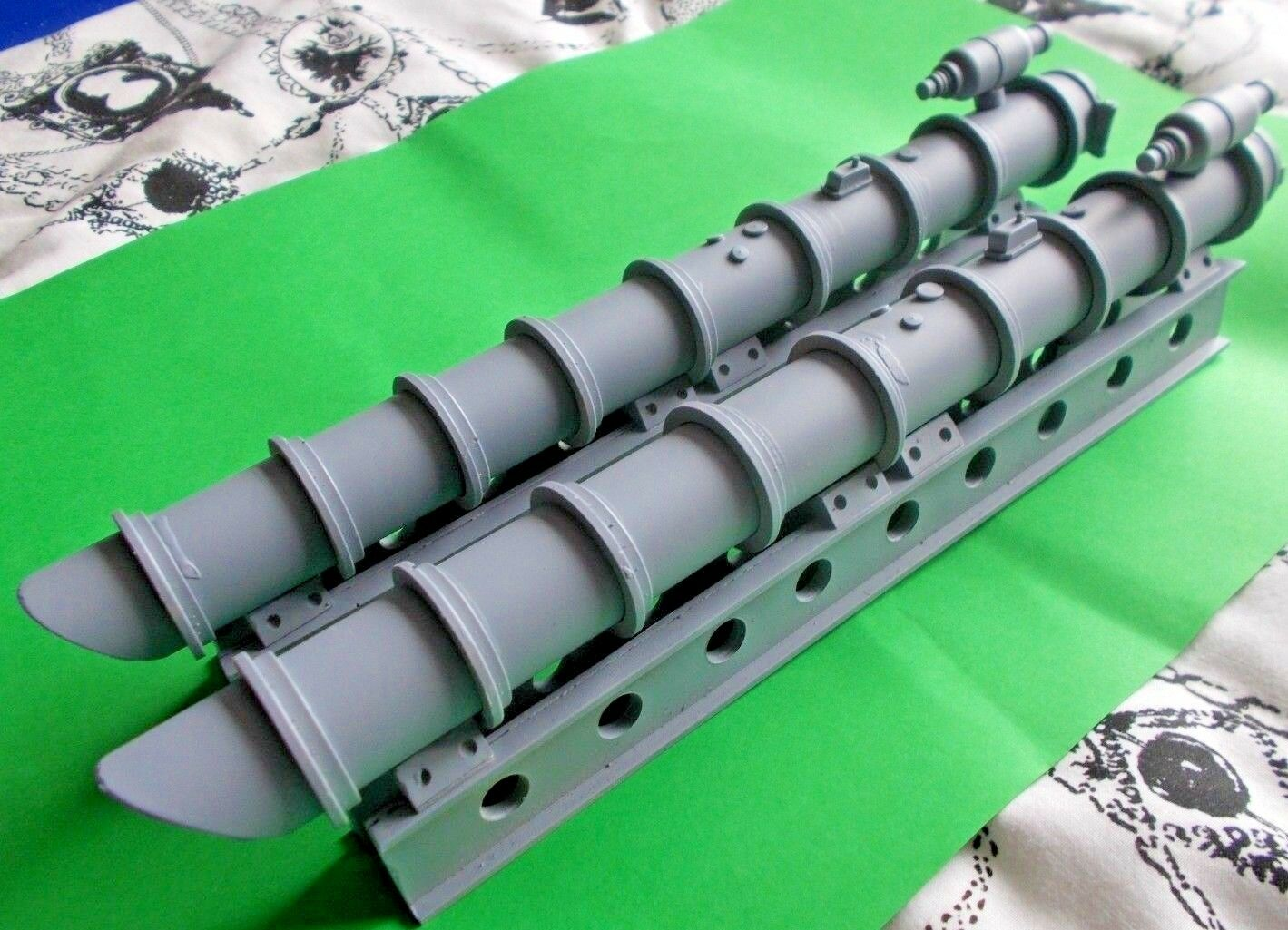 21  Torpedo Tubes in 1 24th Scale. MTB. scale. Model Boat Fittings.