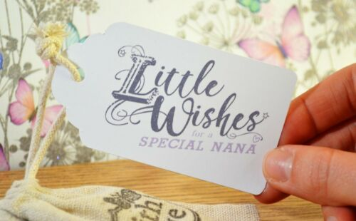 Little Bag of Wishes for a Special Nan// Gran Handmade Keepsake Gift with poem