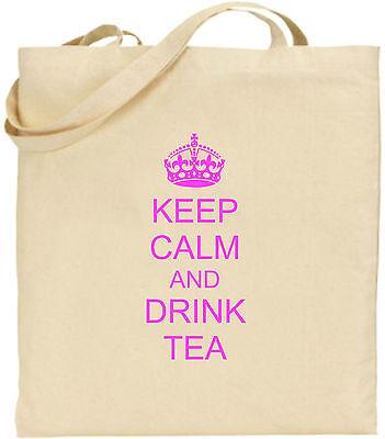 KEEP CALM AND trinken Tee groß Baumwolltasche Einkaufstasche Freund Geschenk