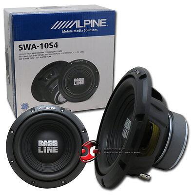 """ALPINE SWA-10S4 10"""" CAR AUDIO SINGLE 4-OHM SUB WOOFER 250W RMS"""