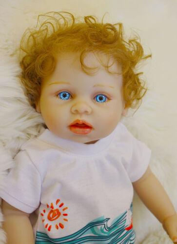 Reborn Preemie Baby Dolls Boy 18/'/' Full Body Silicone Vinyl Newborn Washable