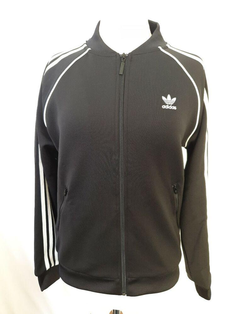 Adidas Originals Sst Tracktop Veste Femmes Noir Ce2392 Taille 42 Neuf Avec étiquette