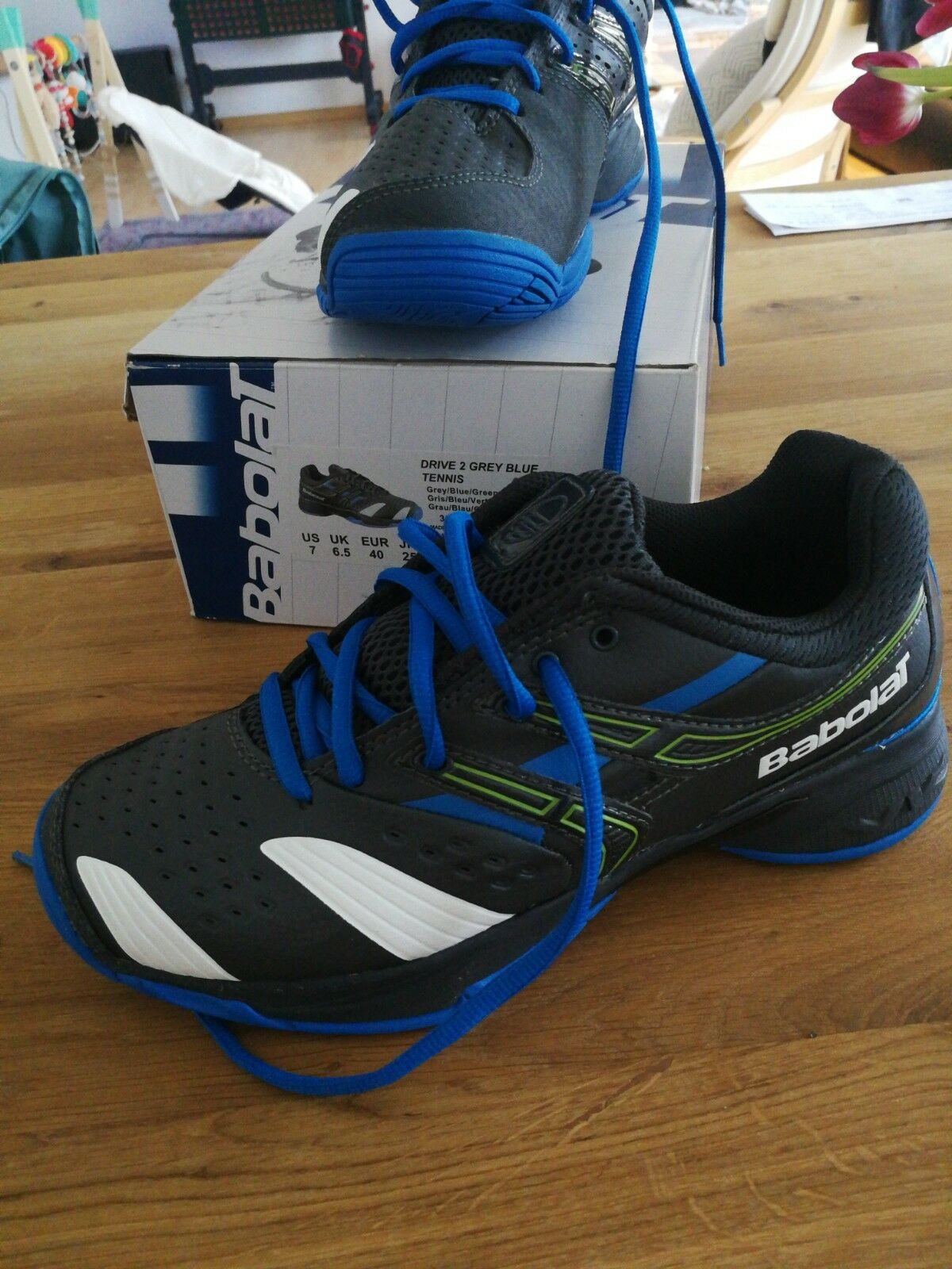 Babolat Drive 2 Tennis Schuhe NEU grau blau blau blau fb4cf8