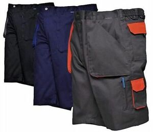 Light-Weight-Work-Shorts-Comfort-Waist-Texo-Tx14-Mens-Workwear-Cargo-Combat