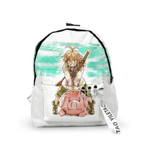 Boys Girls Anime The Seven Deadly Sins Meliodas 3D Print Backpacks Small Bookbag