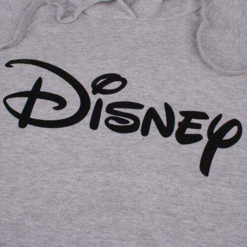 L M XL Disney-LOGO-Donna-Felpa con Cappuccio-Grigio-Taglia S