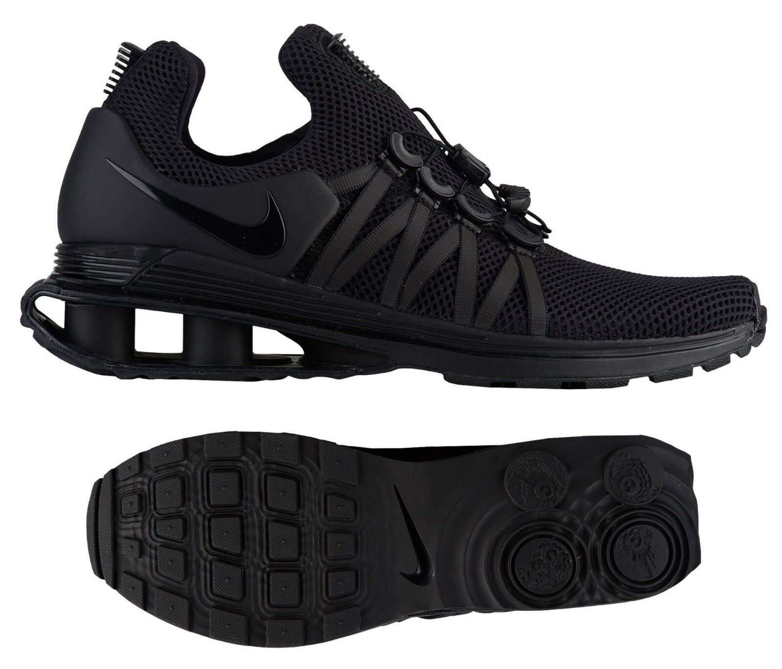 New NIKE Shox Gravity Sneaker Mens triple black size 8