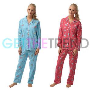 acheter populaire cd9ef d2c30 Détails sur Femme Nightwear Pyjama Femme Flanelle Molleton 100% coton  pyjama haut pantalon Ensemble- afficher le titre d'origine