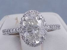 2.19 CARATS TW OVAL CUT DIAMOND ENGAGEMENT RING H SI2