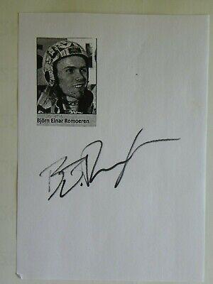 Björn Einar Romören Autogrammkarte Original Signiert Skispringen