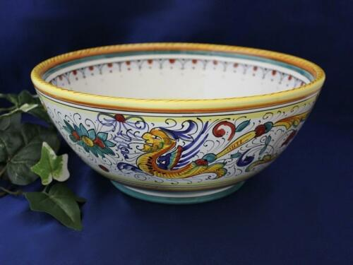 Deruta Raffaellesco Italian Pottery XL Serving Bowl Pasta Bowl Italy