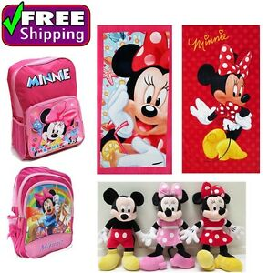 NEW KIDS MINNIE MOUSE TOWEL BAG BACKPACK GIRL PLUSH TOYS GIFT CHRISTMAS CHILDREN