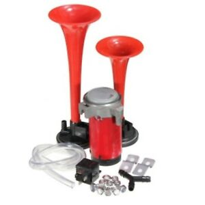 Details about 12V CAR VAN AIR HORN TWIN DUAL TONE VERY LOUD WITH RELAY on