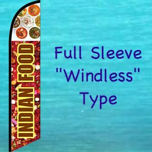 TWO Indian Food  15 Foot Swooper Feather Flag Sign