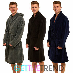 Men's Clothing Clothing, Shoes & Accessories Uomo Pile Super Morbido Notte Abito Da Sera Rigato Con Cappuccio Vestaglia
