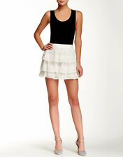 Alice + Olivia Crochet Ruffle Eyelet Triple Layer $297 Mini Skirt New with Tags