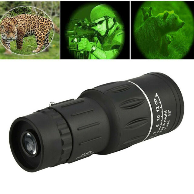 Pocket Handheld 16X52 Eyepiece  Monocular FMC for Outdoor Hiking Bird Watching
