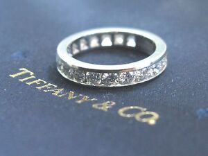 c70bf78c1 Tiffany & Co Platinum Full Circle Round Diamonds 3.9mm Eternity Band ...