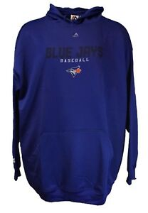official photos 5bd9b fc9c7 Toronto Blue Jays MLB Majestic Pullover Hoodie, Blue, Mens ...