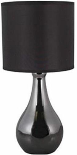 L2204BH Lloytron /'Eclipse/' Black Chrome Touch Table Lamp