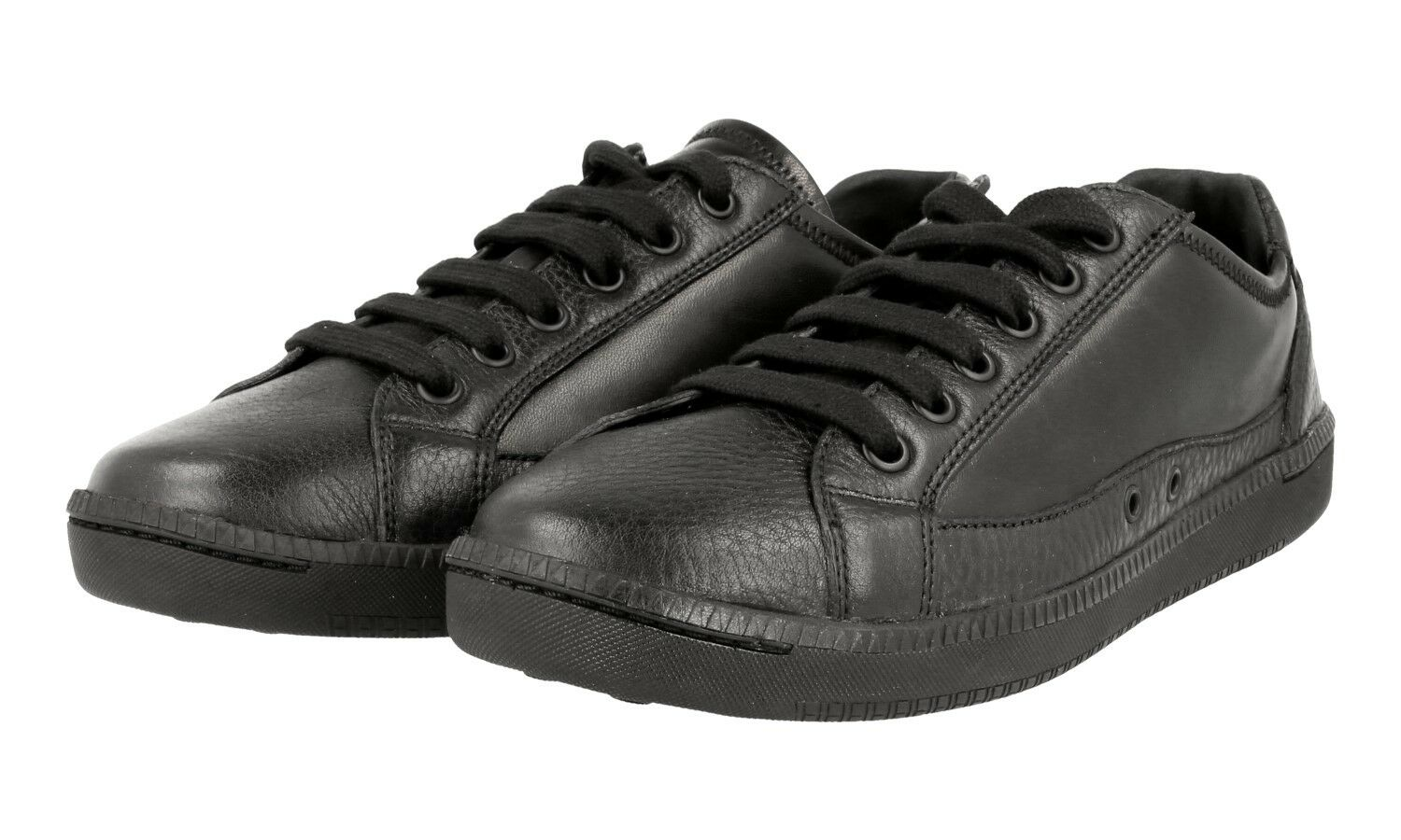 AUTH LUXURY CAR SHOE BY PRADA SNEAKERS SHOES KDE66K BLACK 38,5 39 UK 5.5