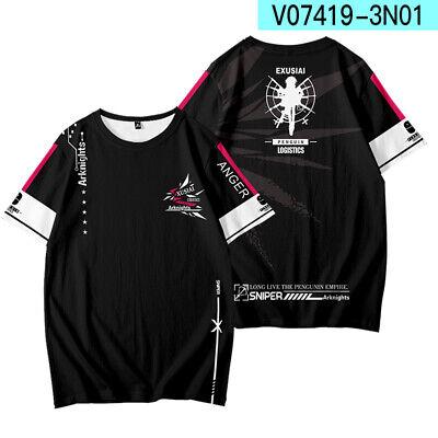 Anime Arknights Fashion Short Sleeve T-shirt Casual Tee Tops Summer Cosplay#04
