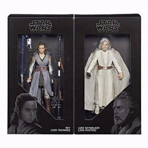 Sdcc 2017 Exclusif Hasbro Star Wars Série noire Luke Skywalker et Rey