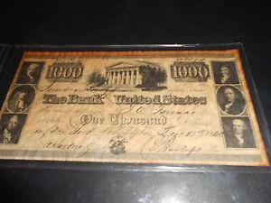 Image Is Loading 1840 1000 Bank Note Of The United