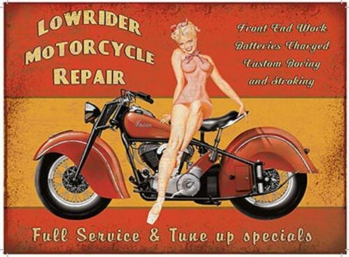 FUNNY GIFT IDEA FOR BOYFRIEND HUSBAND MEN MECHANIC JOKE METAL PIN UP GARAGE SIGN
