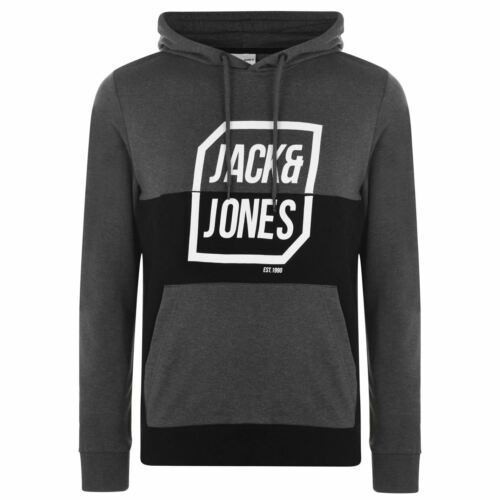 Jack and Jones Half Logo OTH Mens Gents Hoodie Hoody Hooded Top