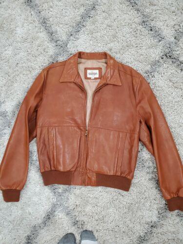 Vintage 70s Silton Distressed Leather Jacket coat