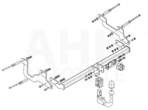 Für Dacia Lodgy Anhängerkupplung abnehmbar+ESatz 13pol ABE