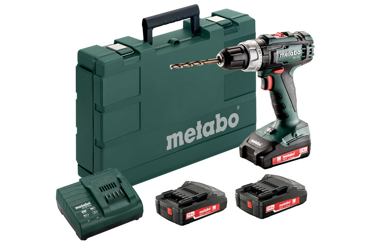 Metabo Akku-Bohrschrauber BS 18 L Set leistungsstark kompakt Set Akkus kraftvoll