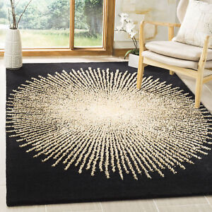 Black-Beige-Safavieh-Soho-Wool-Area-Rug-SOH655Z