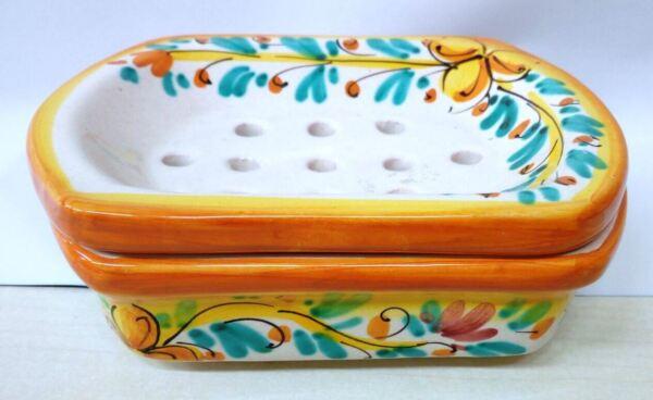 Portasapone Decorato A Mano In Ceramica Di Caltagirone