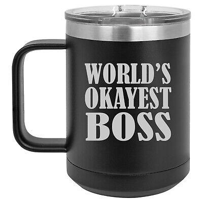 15oz Tumbler Coffee Mug Handle & Lid Travel Cup Insulated ...
