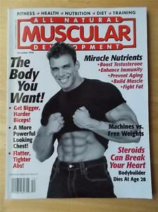 Muscular development bodybuilding muscle magazine frank sepe 12 98